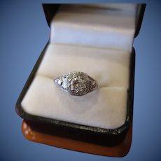 Beautiful  18 kt. Gold Art Deco Diamond Ring  C.1920      SOLD
