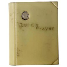 Bakelite Doll House Miniature Bible with Lord's Prayer Stanhope