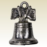 Liberty Bell Stanhope Peep Hole Charm with View of George Washington