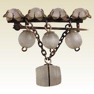 Seven Stone Pin With Niagara Falls Stanhope Peep Barrel