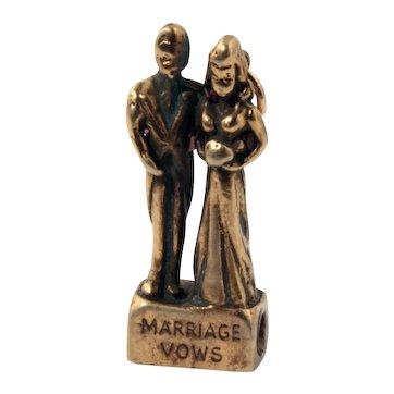 Bride & Groom Charm with Wedding Vows Stanhope Peep
