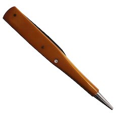 Butterscotch Bakelite Pencil Pocketknife Souvenir of Cuba with Topless Nude Stanhope