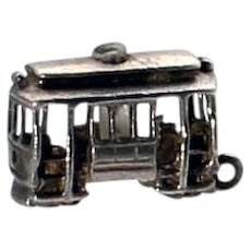 1940's Silver San Francisco Stanhope Cable Car Charm
