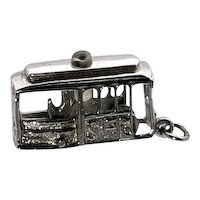 San Francisco Moving Conductor and Wheels Cable Car Stanhope Charm