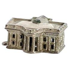 Vintage Sterling Silver U.S. White House Stanhope Charm