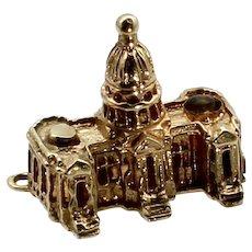 Vintage 14k Gold U.S. Capitol Stanhope Charm