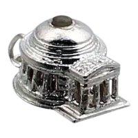 Vintage Sterling Silver Jefferson Memorial Stanhope Charm