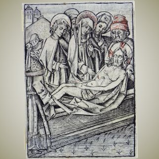 1460 c Master Engraving by The Master of the Berlin Passion