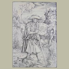 Albrecht Dürer (German, 1471–1528); Master Engraving - Gerson as Pilgrim