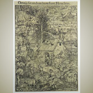 Hans Weiditz (1495-1537) - 2 folio woodcuts: 'Flight of the Creatures' and 'The Witches Abode' - 1532