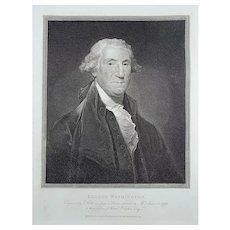 Holloway, Thomas, 1748-1827; Folio Portrait of George Washington - 1796