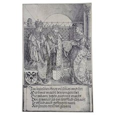 Albrecht Dürer (1471-1528) - Emperor Maximilian & Mary - woodcut from the Triumphal Arch - 1517