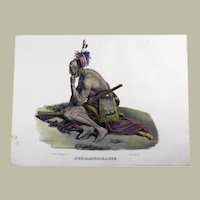 Karl Bodmer (1809-93) - American Indian - Hand coloured stone lithograph in fine hand colour - 1830