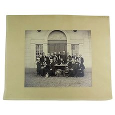Ganz, Johannes [1821-1886] - Drinking Club in Switzerland - Albumen Photograph ca 1870