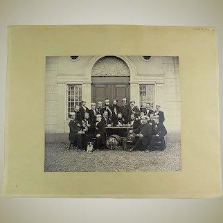 Ganz, Johannes [1821-1886] - Drinking Club in Switzerland - Albumen Photograph ca 1870