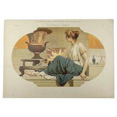 Art Nouveau Hand Poster 35cm - Allegory on Ceramics - ca 1890
