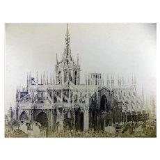 Pozzi, Pompeo (1817/ 1888) - Large salt photograph - Milan Cathedral - 1850s