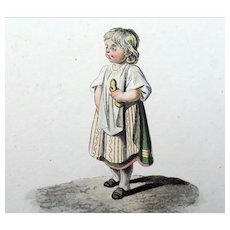 Gottfried Mind (1768-1814) - Children at Play - 12 aquatints hand coloured - 1816