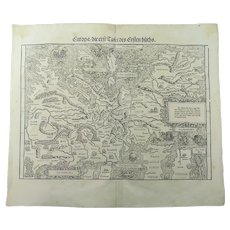 1548 Johannes Stumpf - Europa - Sea Monsters, South Oriented to the Top