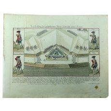 Military Broadsheet - In Pace Papa Bellum - 1754