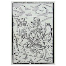 Georg Scharffenberg (1530-1607) - Dance of Death - Bagpipes - The Fool - 1588 [1796]