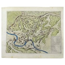 Giacomo Lauro (1550- –1605) - Map of Rome - Copper engraving - 1624