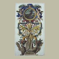 Jean Le Pautre (1618-1682) - Ornamentation - Folio engraving in hand colour