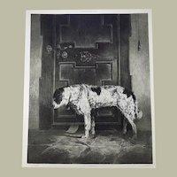 Carl (Karl) Pischinger (1823-86) - THE FAITHFUL DOG - 55cm stone lithograph - 1861