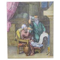 Otto van Veen (1556-1629) - Medicine: The Physician & Drunken Patient!! 1612