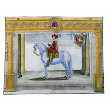 Crispijn de la Passe (1564-1637); Pluvinel double-folio EQUESTRIAN M. Souvre - 1650