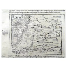 Johannes Stumpf - Holy Lands - woodcut map 1548