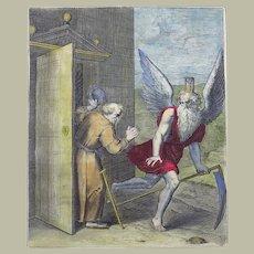 Otto van Veen (1556-1629) Quarto hand coloured - To flee vice is the beginning of virtue - 1612