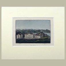 Rud. Dickenmann - aquatint - RIGI Switzerland - delicate hand colour - 1840
