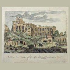 Joh. Meyer (1655-1712) - Ruins of Circus Maximus, Rome, Italy - original engraving - hand coloured - 1679