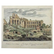 Joh. Meyer (1655-1712) - Ruins of Circus Maximus, Rome, Italy - original engraving - hand coloured - 1679