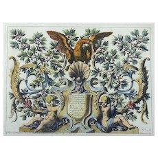 Jean Le Pautre (1618-1682) Rococo Ornament - Panneax d'Ornemets - Folio - 1751