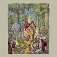 Otto Van Veen (1556-1629) Quarto handcol. - Fear of Poverty Forfeits Liberty 1612 - Emblematic - 1612