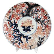 19th-Century Japanese Porcelain Imari Charger, Hand Painted