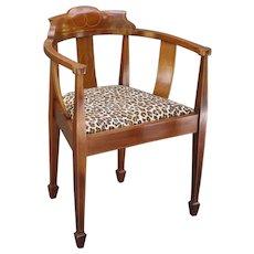 English Antique Fruitwood Corner Chair