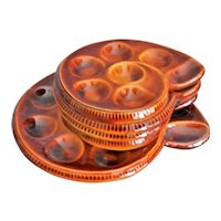 French St Clement Escargot Plates, Set of 5, Canapes, Hor d'oeuvres, Desserts