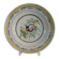 18th-Century Dutch Polychrome Delft Charger