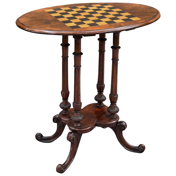 Antique English Burr Walnut Table