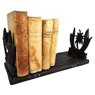 Antique Carved Black Forest Book Slide