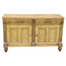 Antique 19th-Century English Pine Sideboard