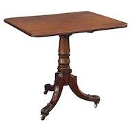 Antique Georgian-Style Tilt Top Mahogany Table