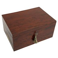 Fine Mahogany Slope Desk Campaign Chest, George III, Key, Secret Drawers Box