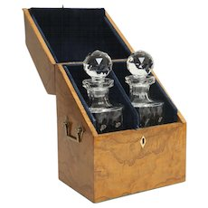 19th-Century Liquor Decanter Box Set, Cave a Liqueur, Tantalus