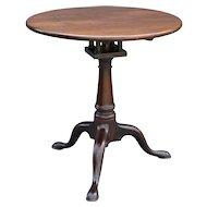 Antique Queen Anne Pedestal Table w/ Bird Cage