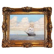 Clipper Ship Marine Oil Painting, Terence Lionel Storey