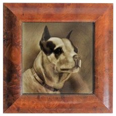 Terrier Dog Tile by George Cartlidge, Antique